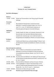 Lebenslauf - Niels-Stensen-Kliniken