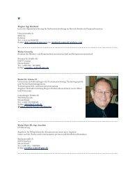 Wagner Ing. Diethard Leiter der Qualitätssicherung für ...