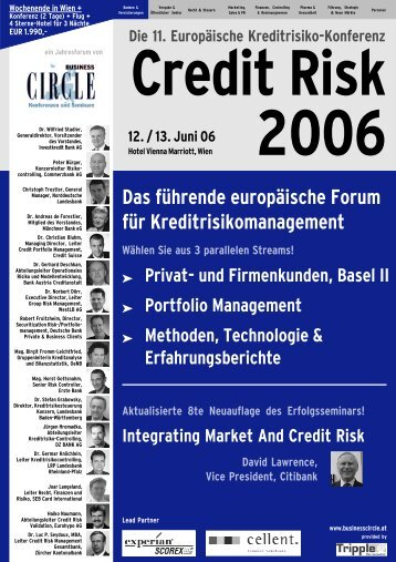 Credit Risk 2006 - Experian Decision Analytics