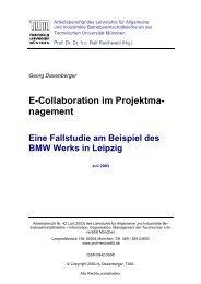 E-Collaboration im Projektmanagement - Lehrstuhl für Allgemeine ...