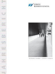 Jahresbericht 2008-09.pdf - KV Zürich Business School