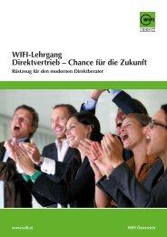 WIFI-Lehrgang Direktvertrieb – chance für die Zukunft