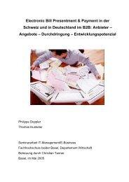 Electronic Bill Presentment & Payment in der Schweiz und in ...