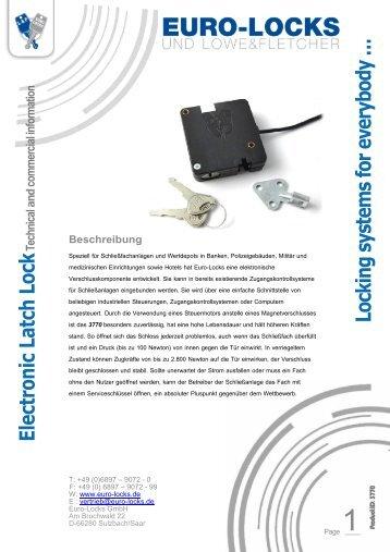 Electronic Latch Lock - Euro-Locks Sicherheitseinrichtungen GmbH