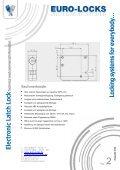 Electronic Latch Lock - Euro-Locks Sicherheitseinrichtungen GmbH - Seite 2