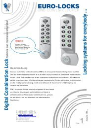 D igital Com bination Lock - Euro-Locks Sicherheitseinrichtungen ...