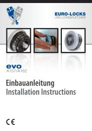 Einbauanleitung Installation Instructions - Euro-Locks ...