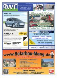 Oktober - RWT - Magazin für die Südwestpfalz