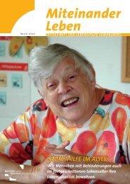 LEBENSHILFE IM ALTER - Lebenshilfe Vorarlberg