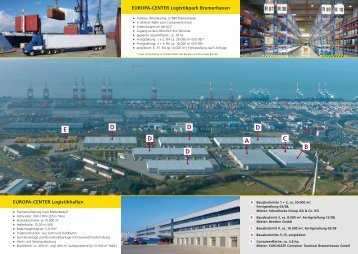 Flyer EUROPA-CENTER Logistikpark Bremerhaven (dt.)