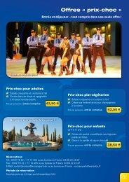 Offres restauration - Europa-Park