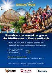 Service de navette gare de Mulhouse - Europa-Park