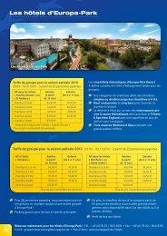 Offres séjour pour groupes - Europa-Park