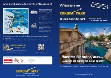Klassenfahrt-Flyer - Europa-Park
