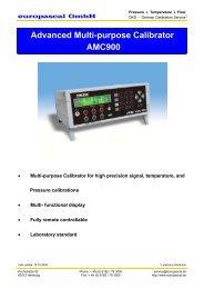 Advanced Multi-purpose Calibrator AMC900 - Europascal GmbH
