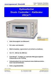 Hydraulischer Druck- Controller / - Kalibrator PPCH™ - Europascal ...