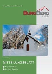Burgberger Mitteilungsblatt Nr. 24/2012