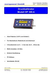 Druckkalibrator Modell DP 300-A - Europascal GmbH