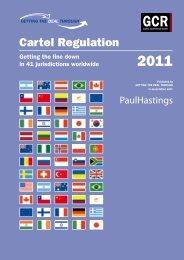 Cartel Regulation 2011 - Paul Hastings