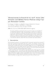 Measurements in Search for 0.1 meV Axion–Like ... - DESY Library