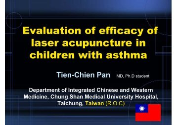 Evaluation of efficacy of laser acupuncture in children with asthma