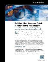 Building High Response E-Mail: A Harte-Hanks Best Practice