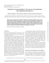 Treatment of acute hepatitis C: the success of monotherapy with ...