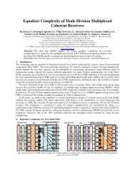Equalizer Complexity of Mode Division Multiplexed Coherent ...