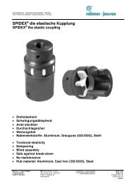SPIDEX® die elastische Kupplung - SR(Asia)