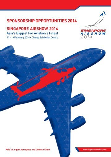 SPONSORSHIP OPPORTUNITIES 2014 - Singapore Airshow
