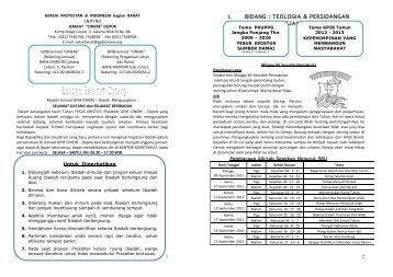 Page 1 1 Untuk Diperhatikan 1. Datanglah sebelum Ibadah dimulai ...