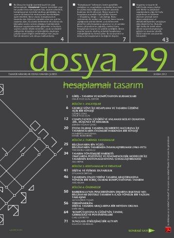 Dosya 29: hesaplamalı tasarım - Mimarlar Odası Ankara Şubesi
