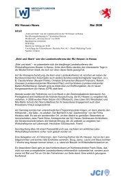 WJ Hessen News Mai 2008 - Wirtschaftsjunioren Hessen