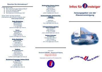 Flyer Einsteigerinfo 2012.pdf - Europe-Klassenvereinigung