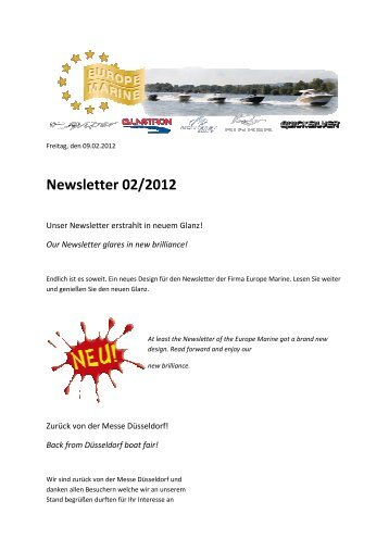 Newsletter 02/2012 - Europe Marine