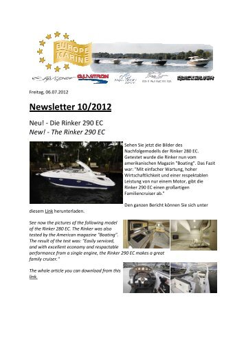 Newsletter 2012_10.pdf - Europe Marine