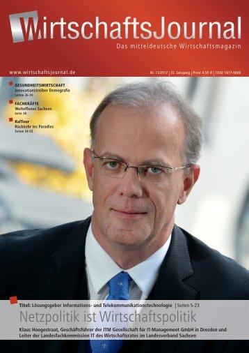 Netzpolitik ist Wirtschaftspolitik - Wirtschaftsjournal