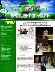 April Newsletter - Division of Youth Services