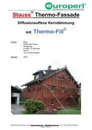 Stauss Thermo-Fassade mit Thermo-Fill - Europerl