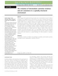 The evolution of intermediate castration virulence and ant ...