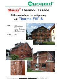 Stauss Thermo-Fassade mit Thermo-Fill -S - Europerl