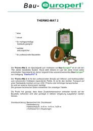 Bau- THERMO-MAT 2 - Europerl