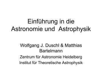 Einführung in die Astronomie und Astrophysik - Wolfgang J. Duschl ...