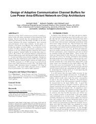 Design of Adaptive Communication Channel Buffers for Low-Power ...