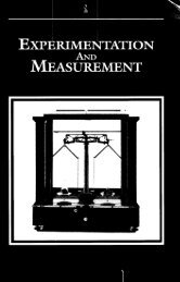 Experimentation and Measurement - National Institute of Standards ...