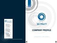 COMPANY PROFILE - WJ Pratt