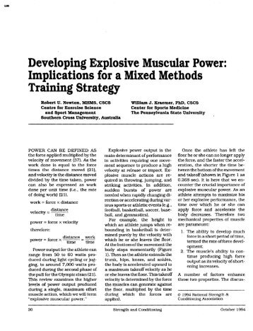 Explosive Muscluar Power w/ Mixed Methods - Gym Equipment