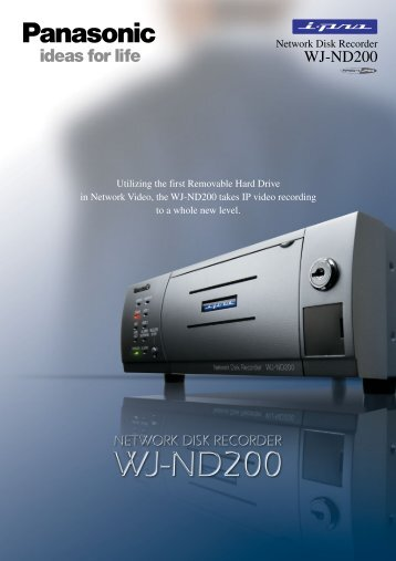 The WJ-ND200 is a secure and user-friendly network ... - Ipset