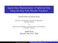 Sparse Data Representation of Spherical Data Using the ... - LATP