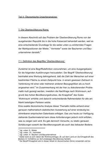 Teil II: Ökonomische Ursachenanalyse: 7. Die ... - bei DuEPublico